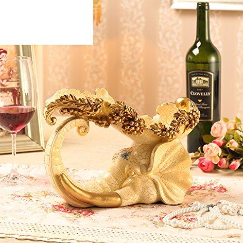 Vintage wine rack ornamentsCreative resin wine rackWine AccessoriesEuropean modern living room home Wine Rack-C