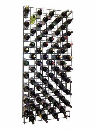 Black Metal Lattice Wine Rack for 152 Bottles