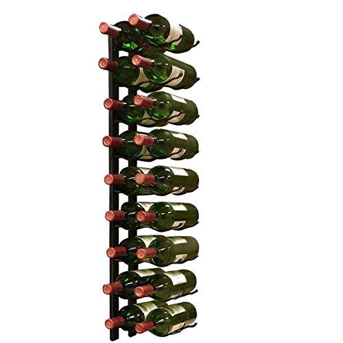 Wall Mount 18-bottle Black Metal Wine Rack