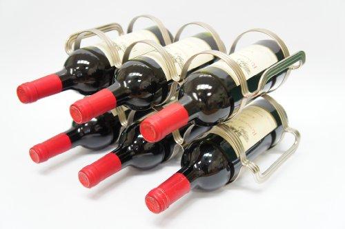 Mango Steam 6 Bottle Wine Rack - Silver