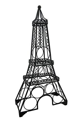Metal Eiffel Tower 6-Bottle Wine Rack Bottle Holder Display 30 In