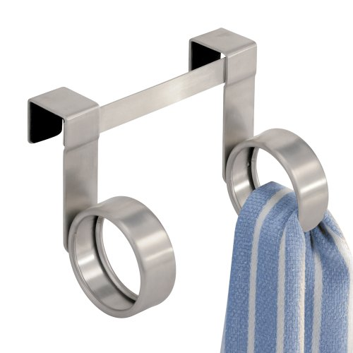 InterDesign Forma Over the Cabinet Twin Loop Dish Towel Storage Hook
