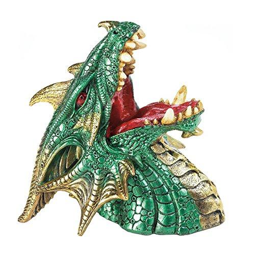 Dragon Wine Holder Novelty Polyresin Decorative Wine Holder Green