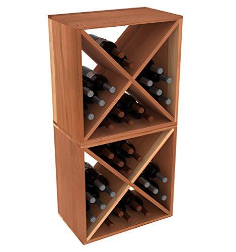 Creekside 24 Bottle Stackable Wine Cubes Set of 2 12 Deep Redwood