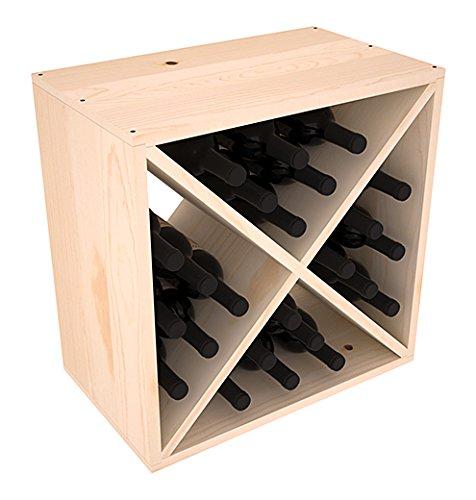 Wine Racks America Ponderosa Pine 24 Bottle Wine Cube 13 Stains to Choose From