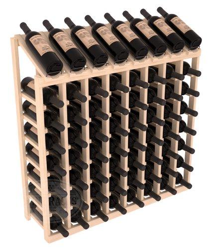 Wine Racks America Ponderosa Pine 8 Column 8 Row Display Top Kit 13 Stains to Choose From