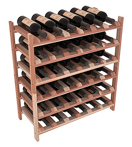 Wine Racks America Redwood 36 Bottle Stackable 13 Stains to Choose From