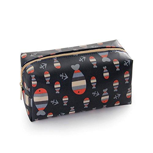 Womens Portable Makeup Bag Cosmetic Bag Toiletry Storage BagFish