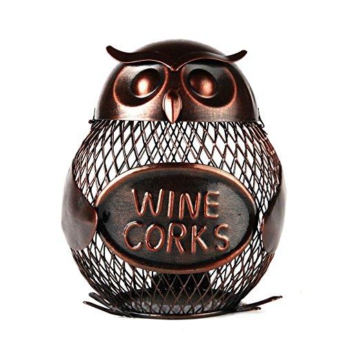 Home-X Owl Wine Cork Holder Wine Cork Cage