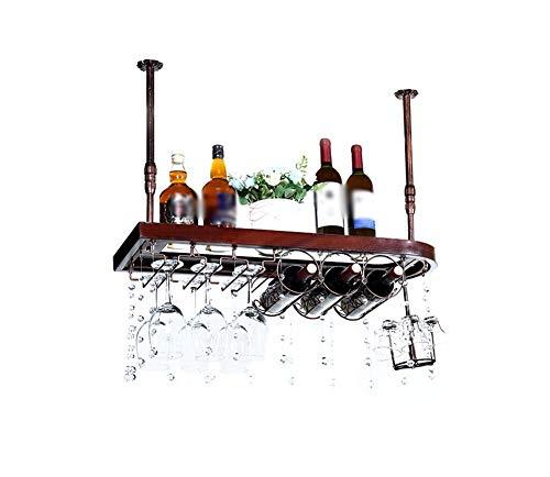 Continental Solid Wood Wine Rack Household Inverted Wine Rack Creativity Simple Hanging Bottle Rack Length 6080×width 28cm ShopHomeBarA-8028cm