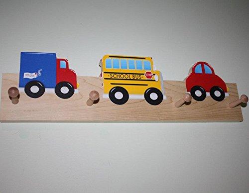 VroOm VRooM Vehicle Wooden CLOTHES Peg Rack for Kids Bedroom Baby Nursery CR0018
