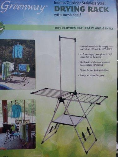 Indoor  Outdoor Clothes Drying Rack with Mesh Shelf