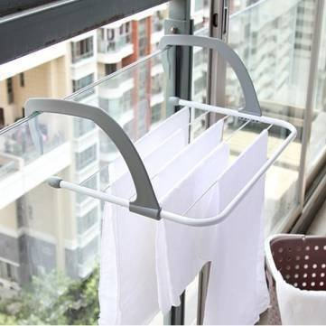 JERN Multifunction Foldable Outdoor Clothes Drying Rack Bathroom Windowsill Sunderies Stand