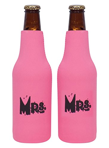 Mrs Mrs Neoprene Bottle Thermocooler Set with Zippers - By Smart Tart
