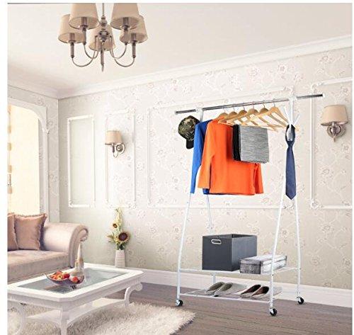 3S Rolling Garment Rack with ShelvesClothes racks for hanging clothesCoat rack