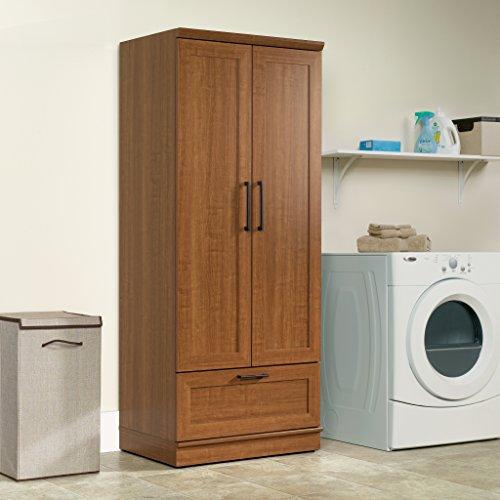Sauder Homeplus WardrobeStorage Cabinet Sienna Oak Finish