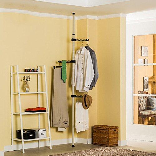 Asunflower Free Standing Coat Racks 3-Tier Adjustable Clothes Drying Hanger Grament Hanger for DryWet Laundry