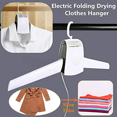 Futurelove Portable Mini Clothes Dryer Fast Drying Cloth Suit Hanger DryerHousehold Travel Portable Dryer Electric Folding Clothes Shoes Drying Hanger Dryer Rack Machine1PC Clothes Dryer Hanger