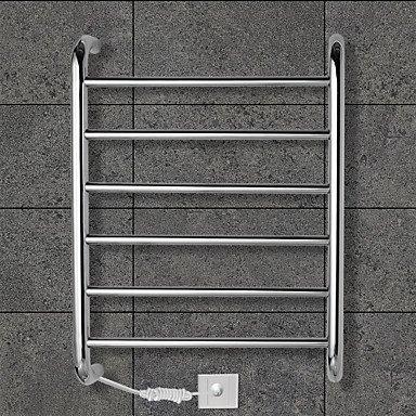 lana 60W Towel Warmer Stainless Steel Mirror Polished Drying Rack Wall Mount