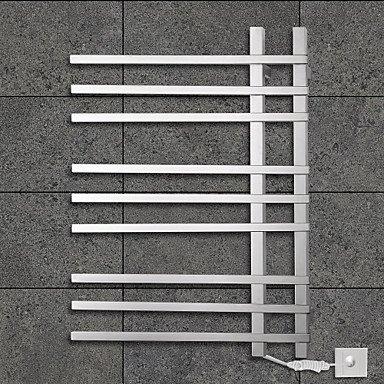 lana 90W Towel Warmer 304 Stainless Steel Mirror Polished Drying Rack Wall Mount