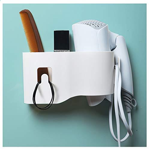 Multipurpose Hair Dryer Rack Bathroom Punch-Free Hair Dryer Shelf Storage Rack