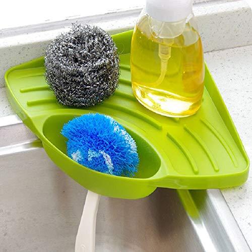 Plastic Soap Dish - Wall Mounted Dishes Drip Rack Bathroom Soap Dish Storage Sink Corner Sponge Holder - Dryer Shelf Dish Kitchen Wall Tray Sink Soap Plastic Dish Corner Eritrea Corner
