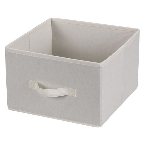 Household Essentials 311306 Set of 2 Drawers for Hanging Shelf Closet Organizers  Natural Canvas Fabric Bin with Handle