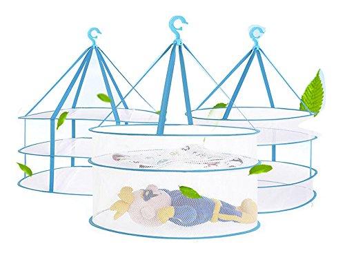 Portable Folding Drying Rack Hanging Clothes Laundry Hangers Dryer Net For Underwears Women Lingerie Woollen Sweater Baby Garments