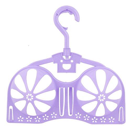 uxcell Bra Brassiere Laundry Hanger Dryer Holder Rack Storage Support Purple