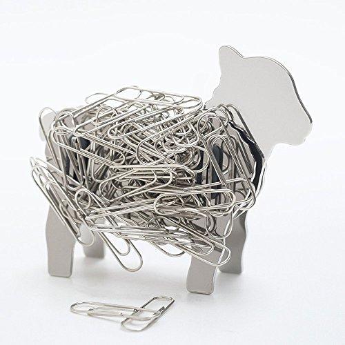 Lamb Sheep Design Stainless Steel Metal Magnetic DIY Binder Paper Clip Holder
