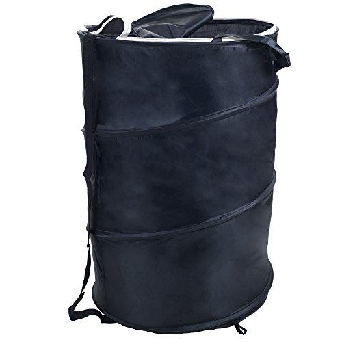 Lavish Home Breathable Pop Up Laundry Clothes Hamper Black