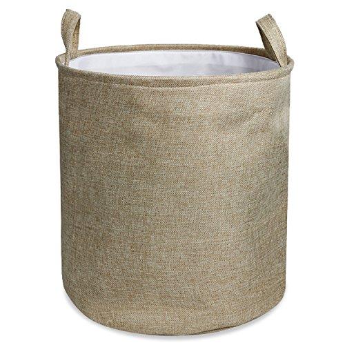 Wimaha Solid Foldable Linen Laundry Hamper Baskets Clothes Hamper 13 x 15