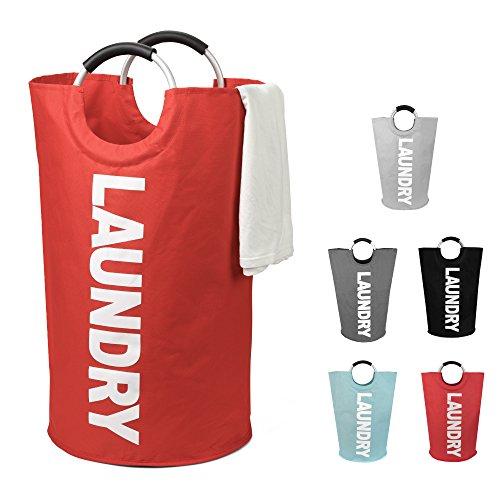 DOKEHOM DKA0011RD Laundry Basket Large Laundry Bag Foldable Washing Basket Red