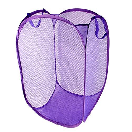 uxcellLaundry Bag Basket Pop Up Hamper Foldable Clothes Storage Bin Purple