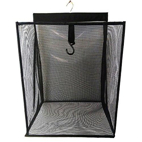 ALYER Hanging Foldable Mesh Laundry HamperLarge Capacity Door-Hanging Laundry Basket and Durable Bathroom Storage BagBlack