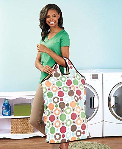 Jumbo Laundry Tote Geo Circles