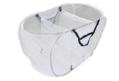 Crazystones Large Foldable Classification Mesh Storage Laundry Baskets 77cm40cm40cm