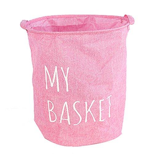 Pink Foldable Laundry Bags Washing Bag