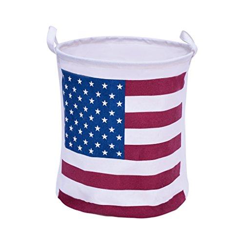 1 Best Selling Fabric Laundry Basket - Premium Decor Fabric Foldable Canvas Laundry Basket Hamper Closet Storage Bin Bag Tote US Flag 1 pc
