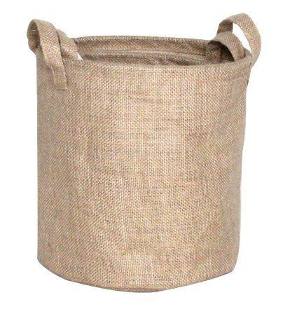 Premium Decor Fabric Foldable Canvas Laundry Basket Hamper Closet Storage Bin Bag Tote FLB-086