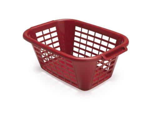 ADDIS 40 Litre Rectangular Laundry Basket Roasted Red
