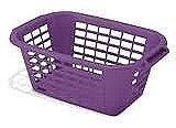 Addis 40 Litre Rectangular Laundry Basket Purple by Addis