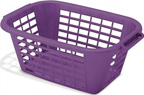 Addis Rectangular Laundry Basket 2 Large Handles in Purple  66 x 44 x 256cm