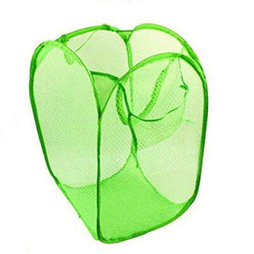 Sannysis New Foldable Pop Up Washing Clothes Laundry Basket Bag Hamper Mesh Storage Navy Blue