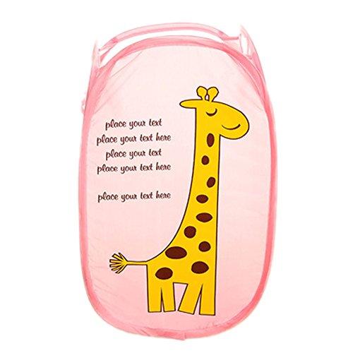 Laundry Toys Tidy Clothes Socks Basket Storage Bag Hamper Cute Giraffe