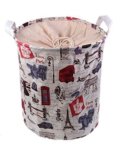 Timy Canvas Hamper Clothes Toys Organizer Laundry Storage Bag 12X12X16 Color 2