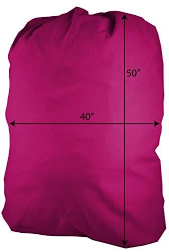 Huge Heavy Duty Nylon Waterproof Storage Laundry Bag Sixa 40X50 for Painting Storage Moving Magenta Nylon watreproof