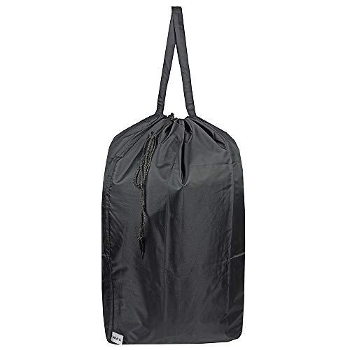 UniLiGis Tear Proof Nylon Laundry Bag with HandlesTravel Laundry Bag with Drawstring ClosureDirty Clothes Bag Fit Most Laundry Hamper or Basket275x345 inBlack