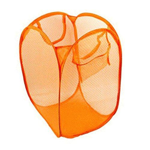 Anshinto Foldable Pop Up Washing Laundry Basket Hamper Mesh Storage Bag G