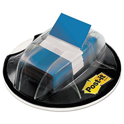 3MCOMMERCIAL TAPE DIV 680HVBE Flags in Desk Grip Dispenser 1 x 1 34 Blue 200Dispenser